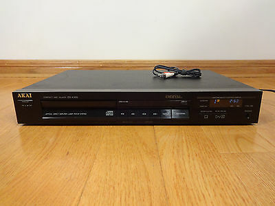 AKAI CD-A305 Single CD Compact Disc Player 1988 Japan TESTED 100% Works Great!