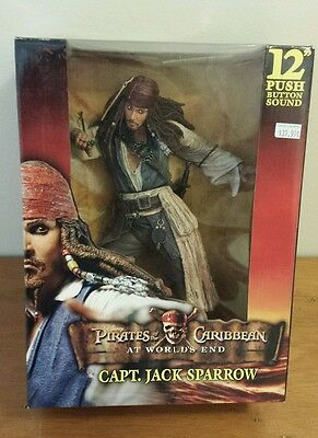 "Pirates of the Caribbean Jack Sparrow 12"" Figure NECA"