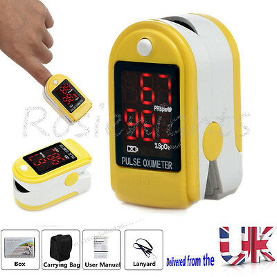 LED Finger Fingertip Blood Oxygen Meter SPO2  Pulse Heart Rate Monitor Oximeter