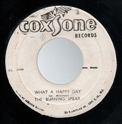 """♫ Roots Dub Reggae -The Burning Spear - What A Happy Day - Coxsone Records 7"""" ♫"""