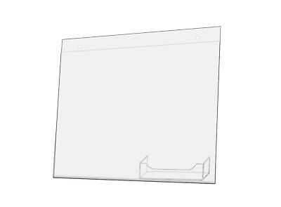 Acrylic 11 x 8.5 Wall Mount Sign Holders with Business Card Holder