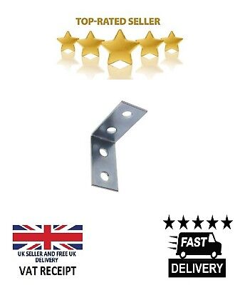 L Shaped Brackets Steel Zinc Plated 32x32x16mm VARIOUS PACKS SIZES AVAILABLE