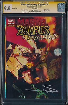 CGC 9.8 SS Marvel Zombies vs Army of Darkness #1 Variant Signed by Suydam