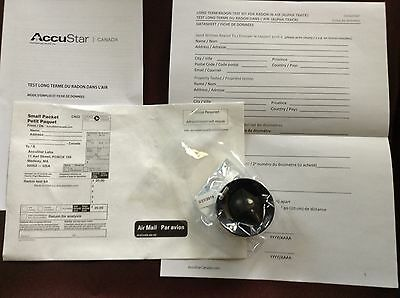 Long Term Radon Test kit, test home for radon level approved by Health Canada