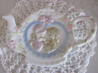 "Collectible ""precious Moments"" Teapot (Tea Bag Dish) 1993"