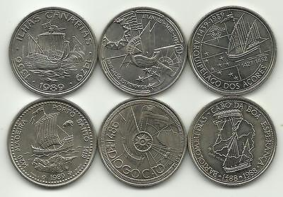 Portugal - 6 Commemorative Portuguese Coins -100 Escudos -Nice Price - See Photo