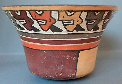 Ancient Nazca Trophy Head Bowl Vase : Peruvian Pre-Columbian Art