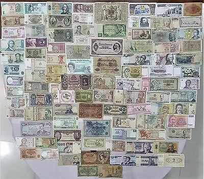 World Banknote collection. 100 Mixed. Many Old.All my collections Different #21
