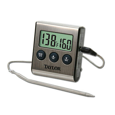 Taylor 1487 Digital Cooking Thermometer w/ Probe Plus Timer