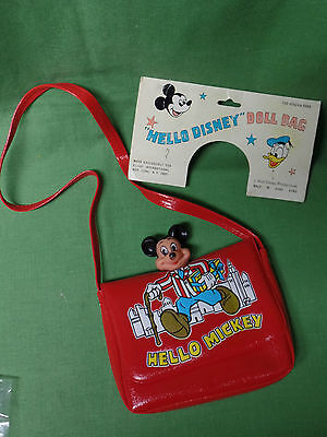 Vintage Disney Mickey Mouse Child's Vinyl Purse with Shoulder Strap - New