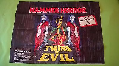 TWINS OF EVIL 1971 HAMMER Original UK Quad POSTER  - 30 x 40 inches