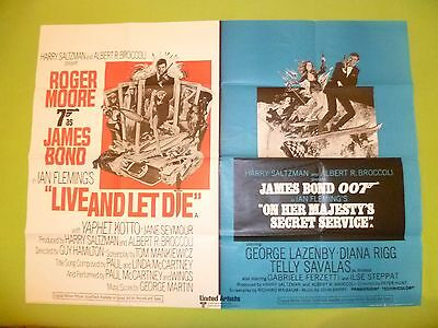 Live And Let Die/ohmss. 1974  Original Uk  Quad  Cinema Poster.30 X 40  Inches .