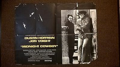 Midnight Cowboy. 1969  Original Uk  Quad  Cinema Poster 30 X 40 Inches.