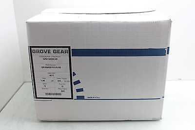 New Grove Gear GR-BMQ815 Cast Iron Worm Reducer with Leeson C6T17FC3K 5:1 Ratio