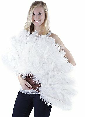Zucker Feather Ostrich Drab Fan, White