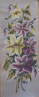 Seg de Paris Needlepoint Painted Canvas Floral 25 X 60 cm