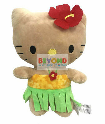 Hello Kitty Plush Hawaii Tanned Cute Soft Stuffed Plush Toys