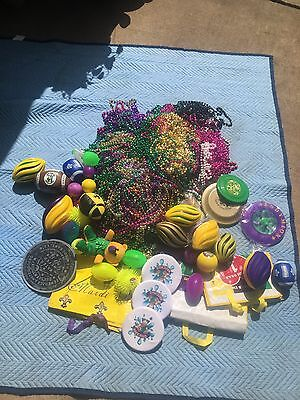 70+ lbs HUGE  LOT Mardi Gras Beads Necklaces, Throws, and MORE!!