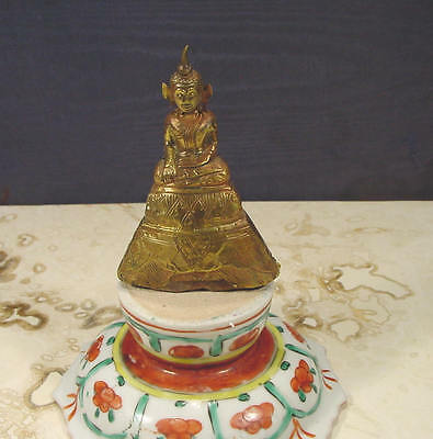 Antique Gold Buddha Statuette Thailand Ayutthaya 200 yrs or older