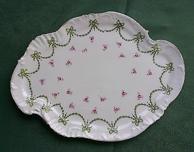 RARE  Antique fine china plate Chippendale William Alsager Adderley W A A & Co.