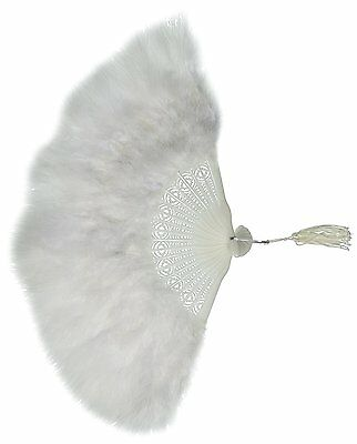 Zucker Feather Products Large Marabou Feather Fan, White