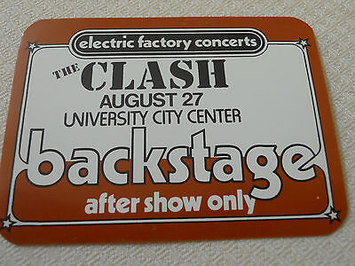 Clash 1983 - University City Center Philadelphia-BACKSTAGE PASS AFTER SHOW ONLY