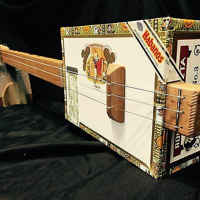 Buzz Box Cigar Box Guitar - Left Handed