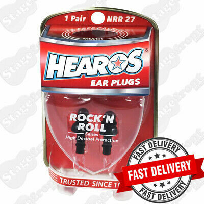 Hearos Hs309 Rock 'N Roll. Triple Ring Sealed Ear Plugs / Filters Re-Usable