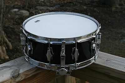 "Fibes 5""x14"" Vintage Snare Drum. Re-Wrapped In Black. Excellent Shape/Rare!"