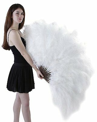 Zucker Feather Ostrich Femina Fan, White