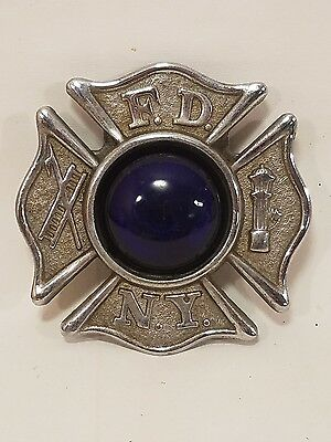 EXTREMELY RARE- New York Fire Department Metal Badge Fender Light Mount