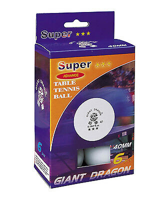 Giant-Dragon Table Tennis Ping Pong Balls 23023P, New Material Cell-Free, 3star