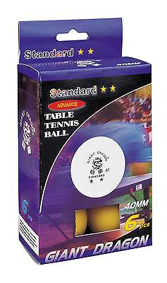 Giant-Dragon –Table Tennis Ping Pong Balls 23122P, New Material Cell-Free,Orange