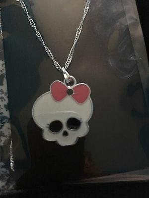 Monster High Style Child's Necklace Skull