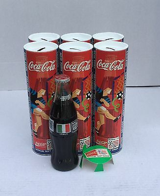 1994 World Cup Soccer Italy Coca Cola Coke Bottle & Bank (Lot 6)