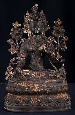 Very Large Unique Rare Old Chinese Bronze Buddha Seated Statue Sculpture AB048