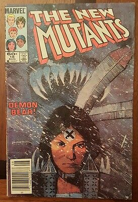 New Mutants 18 Marvel Comic ~VG first Warlock and Magus Demon Bear