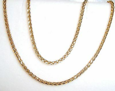 """18k solid yellow gold(1.3mm) wheat chain(16""""/18""""/20""""/22""""/24"""")"""