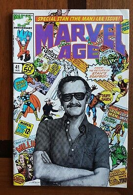 MARVEL Age 41 Stan Lee photo cover  comic ~VG Excelsior!