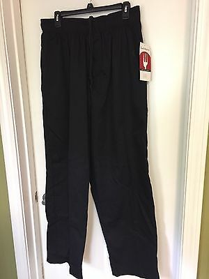 Men Black Chef Works Pants Own The Kitchen Size Xl Nwt !!!