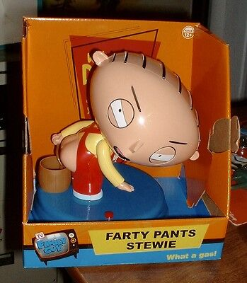 FARTY PANTS STEWIE - Talking Blows Bubbles out his BUTT Family Guy Novelty -NEW!