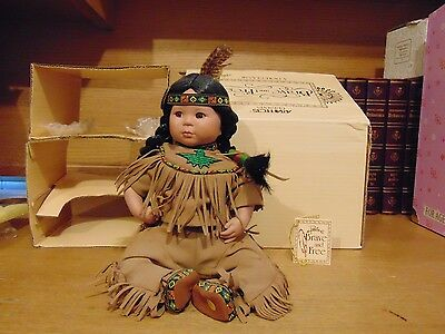 """Danbury Mint Artaffects Brave And Free Doll by Perillo Box & Hang Tag 10"""" Seated"""