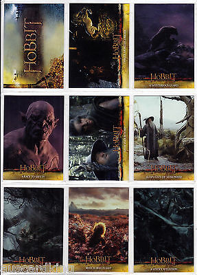Hobbit - Desolation of Smaug - LOTR - Complete Card Set (72) - 2015 - NM