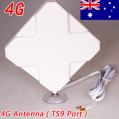 35dBi 3G 4G LTE Daul Antenna Booster MIMO Telstra TS9 Plug Huawei&Cable AU Stock