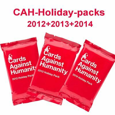 Cards Against Humanity -3x Booster Packs- Holiday Set Expansions Pack Party Game