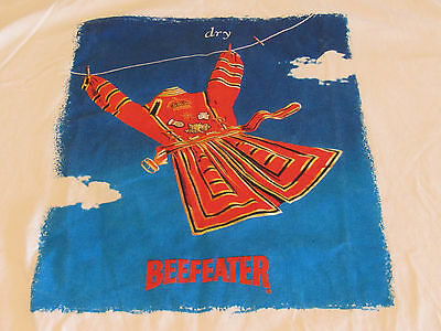 Vtg Beefeater Dry T-Shirt White Gin Lovers Advertising Sz XL EUC