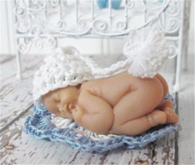 Newborn Sleeping Baby Shape Silicone Mold Cake Decorating 3D Mould Food Grade