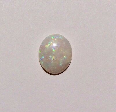 Genuine Australian Solid White Light Opal Loose Stone 2.30Ct 12 X 10