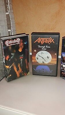 Lotto 4 Vhs Metal: Anthrax, Death Is Just The Beginning, Entombed, Necrodeath