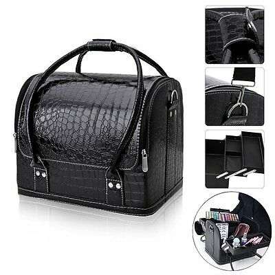 Professional Makeup Train Case, FLYMEI Large Space Make Up Artist Box Beauty
